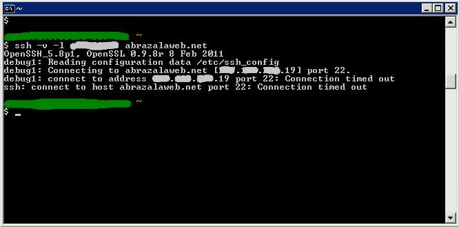 bloqueo SSH por el Proxy/Firewall