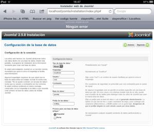 Configurar base de datos