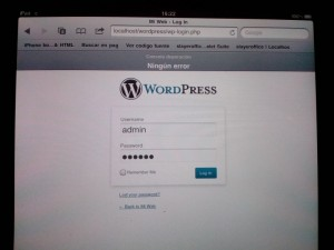 instalación WordPress